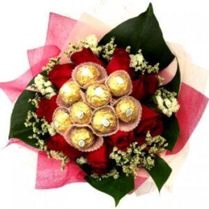 Jual Bunga Bouquet Mawar Coklat Kota Malang