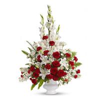 Jual karangan bunga meja dikota surabaya