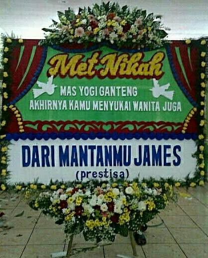 Harga Murah! Jual Karangan Bunga Papan Happy Wedding Di Kelurahan Ciganjur Kecamatan Jaga Karsa Jakarta Selatan