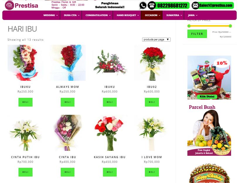 Harga Bunga Untuk Hari Ibu - Jual Bunga Meja Murah