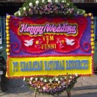 toko bunga papan wedding di Kecamatan Tenayan Raya Pekanbaru Riau (BPW-72)