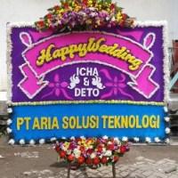 pesan bunga papan wedding di Kecamatan Senapelan Pekanbaru Riau (BPW-84)