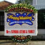 jual bunga papan happy wedding di kabupaten bandung barat