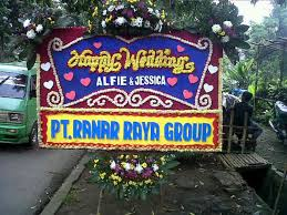 jual bunga papan wedding di kabupaten subang