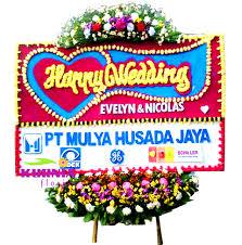 jual bunga papan wedding di daerah kelapa gading