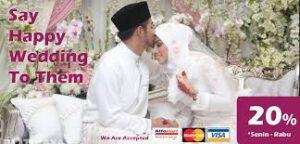 Kirim Karangan Bunga Papan Happy Wedding Kecamatan Cibiru Bandung