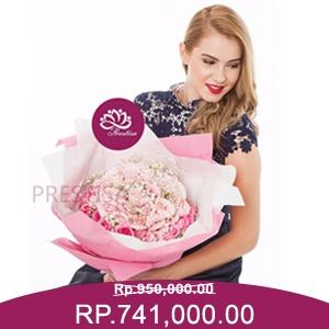 Jual Handbouquet Mawar Valentine Kota Jakarta