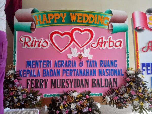 Toko Bunga Trenggalek Karangan Bunga Papan Wedding Trenggalek -01