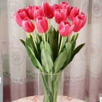 Artificial-flowers-silk-flower-embossed-font-b-tulip-b-font-single-branch-placed-floral-font-b