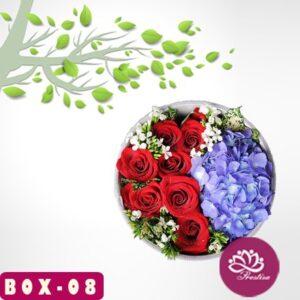 Toko Bunga Box Mawar di Kota Jakarta