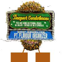 Pesan Karangan Bunga Papan Duka Cita Murah di Kecamatan Batu Ampar di Kota Batam (DCA-03)