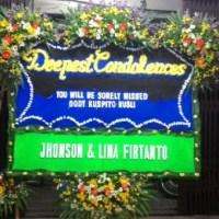 Jual Cepat dan Murah Karangan Bunga Papan Duka Cita di Kecamatan Nongsa di Kota Batam (DCB-31)