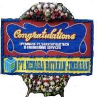 Jual Cepat dan Murah Karangan Bunga Papan Congratulation di Kecamatan Nongsa di Kota Batam (BPC-07)