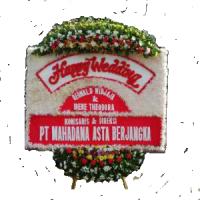 Jual Karangan Bunga Papan Wedding Cantik di Kecamatan Pangkalan di Karawang (BPW-61)