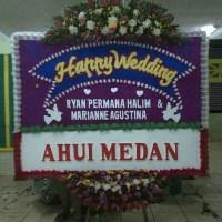 Toko Prestisa Jual Karangan Bunga Papan Wedding di Kecamatan Kutawaluyu di Karawang (BPW-75)