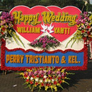 jual bunga papan wedding di kabupaten bandung barat