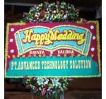 jual bunga papan pernikahan di daerah kelapa gading
