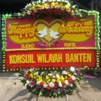 kirim karangan bunga happy wedding di kabupaten bandung barat