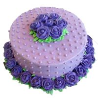 Purple Rose Cake