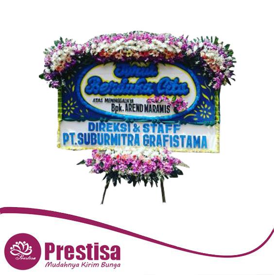 karangan bunga papan duka cita Makassar