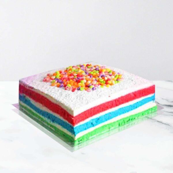 rainbow cheese cake
