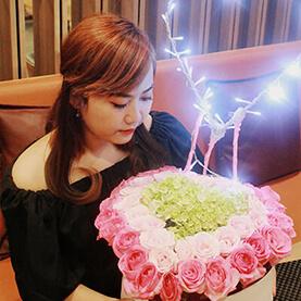 Bunga Flower Box LED Jakarta