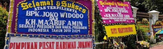 Karangan Bunga Jokowi Maruf