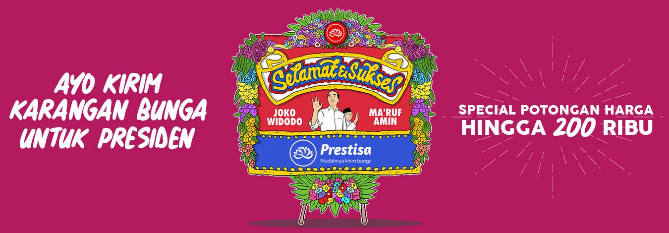 Karangan Bunga Papan Selamat Jokowi Maruf
