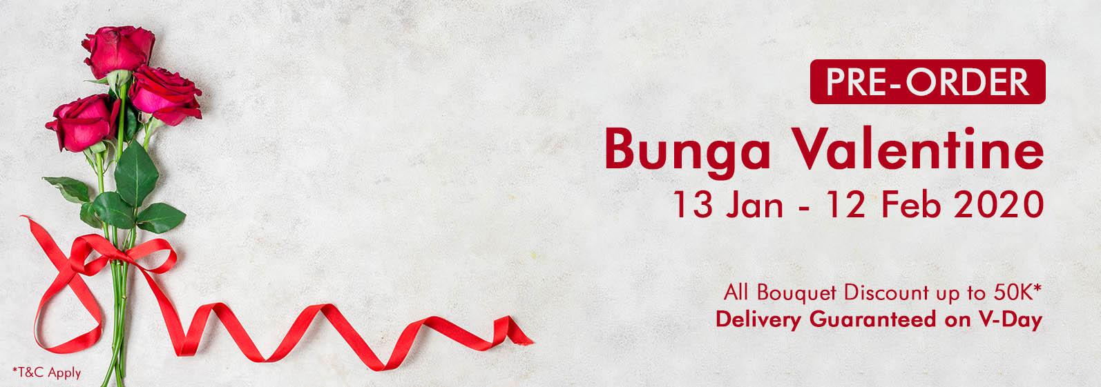 Toko Bunga Jakarta Banner Valentine 2020
