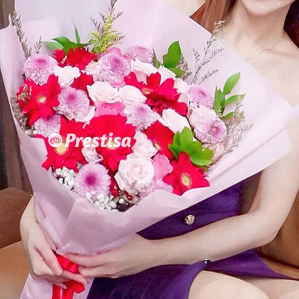 Loving Krisan Bouquet