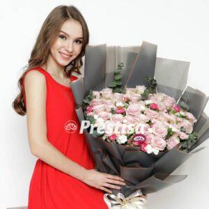 Bouquet Mawar Pink 20-4