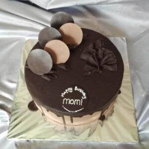 Choco Drip Round Cake Bogor