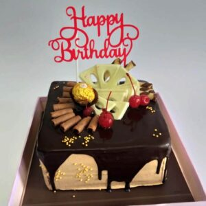Choco Drip Square Cake Surabaya