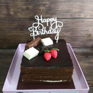 Choco Square Cake Surabaya