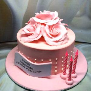 Pink Flower Cake Tangerang