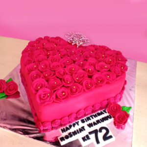 Pink Heart Cake Bekasi