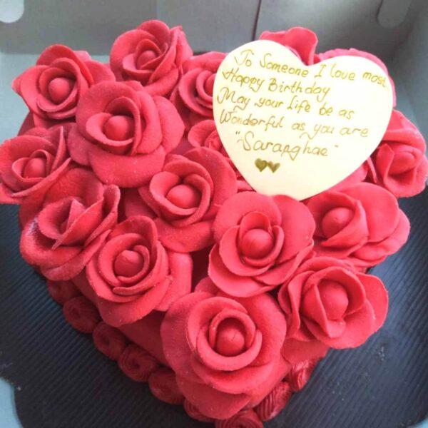 Red Heart Cake Bali