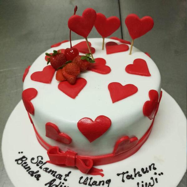 Red Heart Cake Bekasi