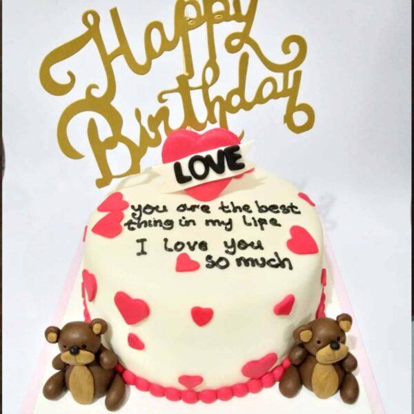 Teddy Love Cake Surabaya