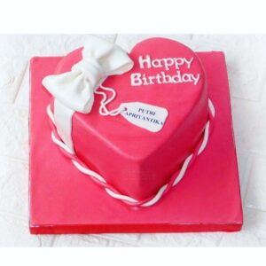 Wrapped Heart Cake Palembang