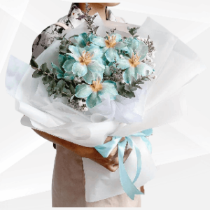bunga buket biru